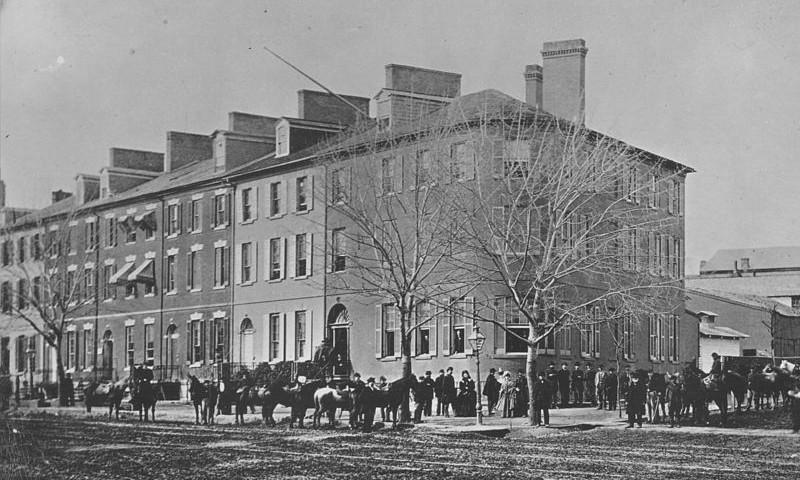 The Seven Buildings, April 1865
